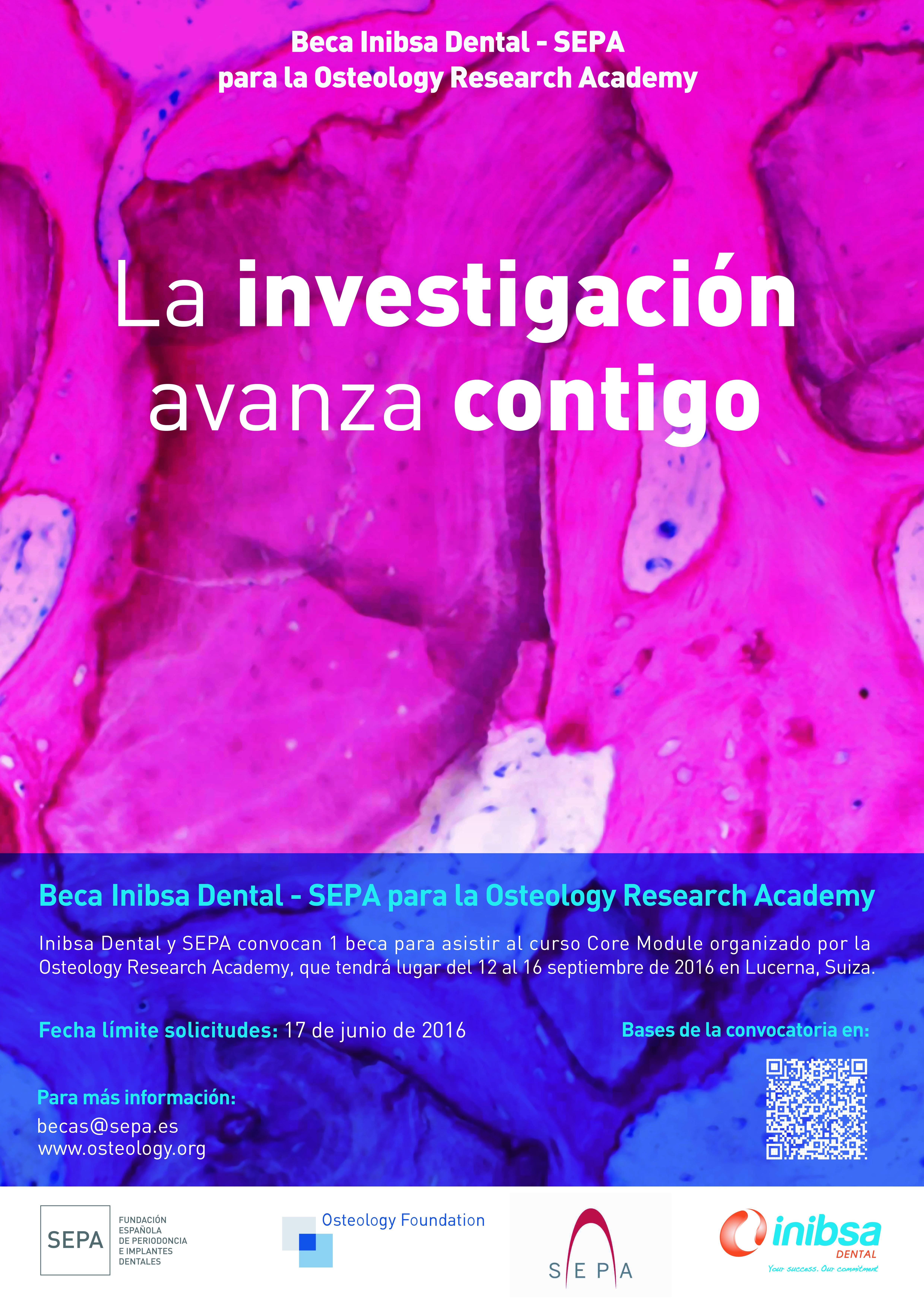 S'obre la convocatòria per a la Beca Inibsa Dental–SEPA per a la formació internacional de l'Osteology Research Academy