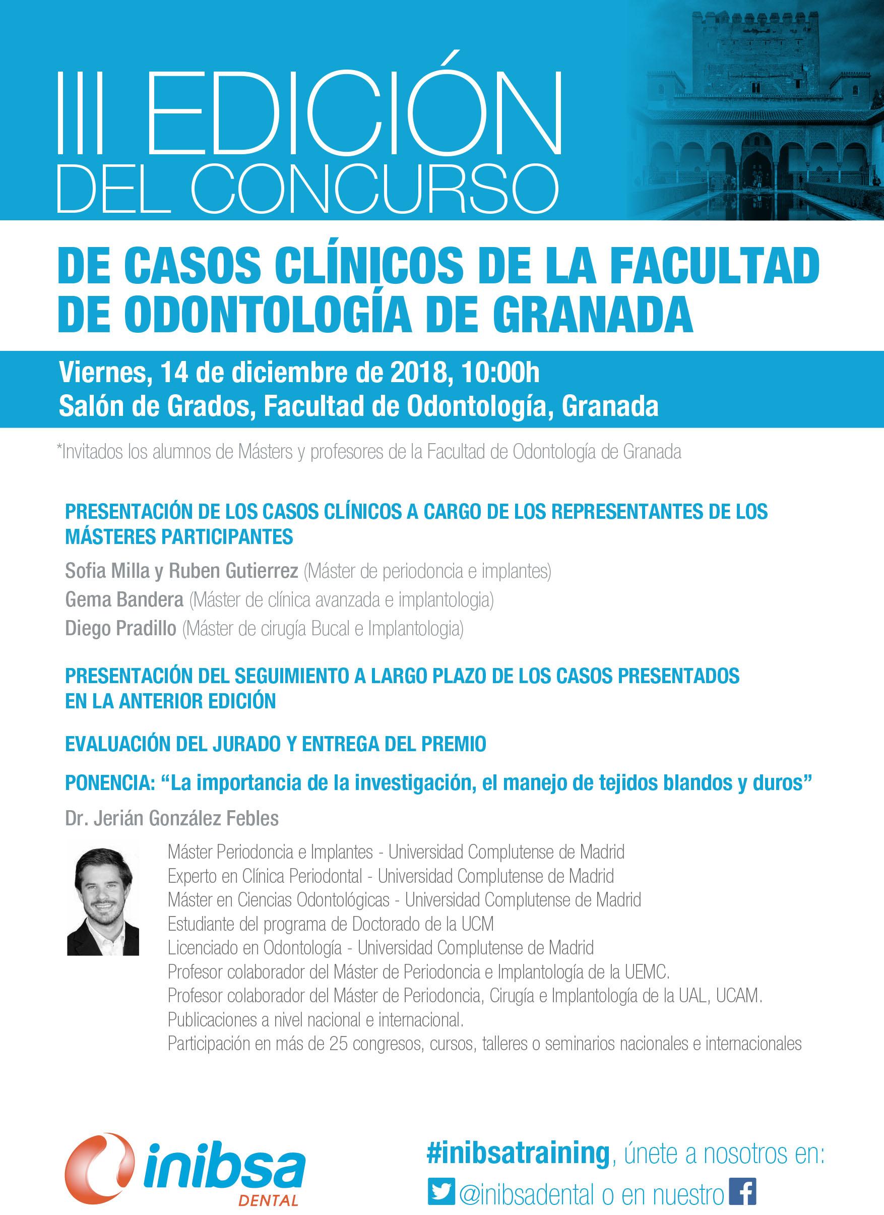 III edición del Concurso de casos clínicos de la facultad de odontología de Granada