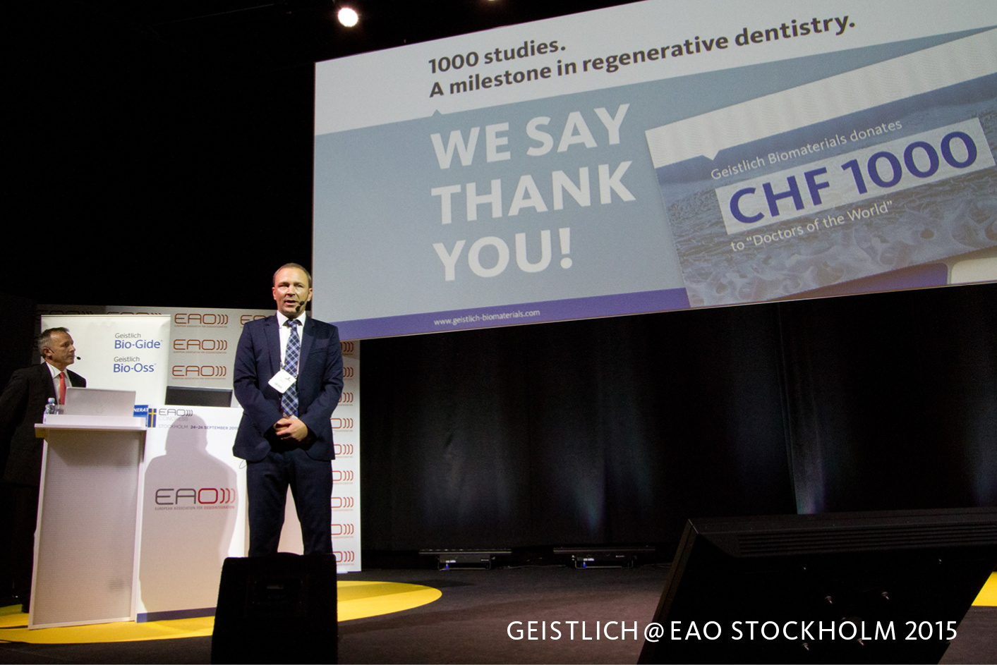 1000th scientific publication: Geistlich celebrated at the EAO